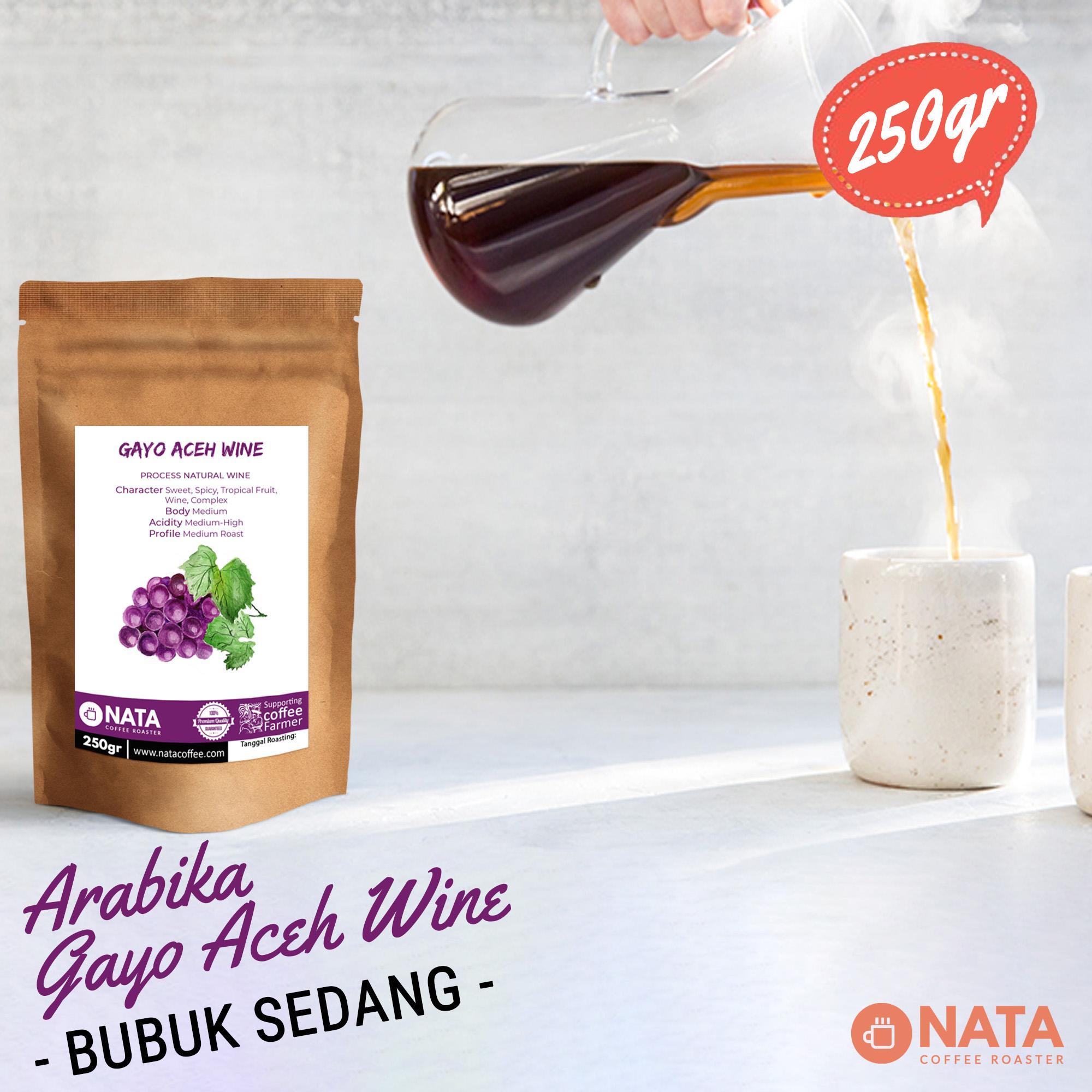 Nata Kopi Gayo Aceh Wine Arabika 250gr - BUBUK SEDANG