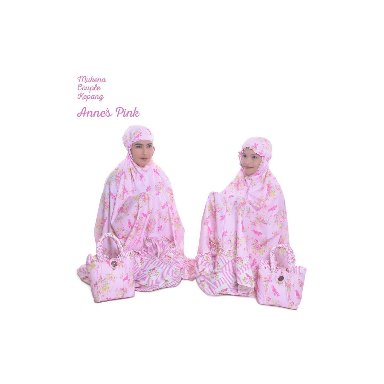 Promo Mukena Jepang Mukena Couple Anne's Pink (Ibu & Anak)