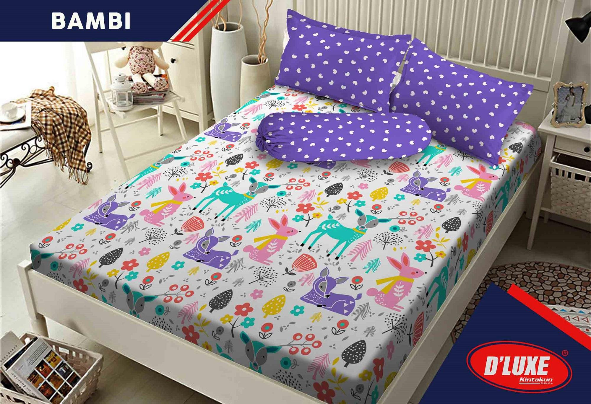 Sprei Kintakun Kids Edition Single Uk. 120x200 cm New - Bambi