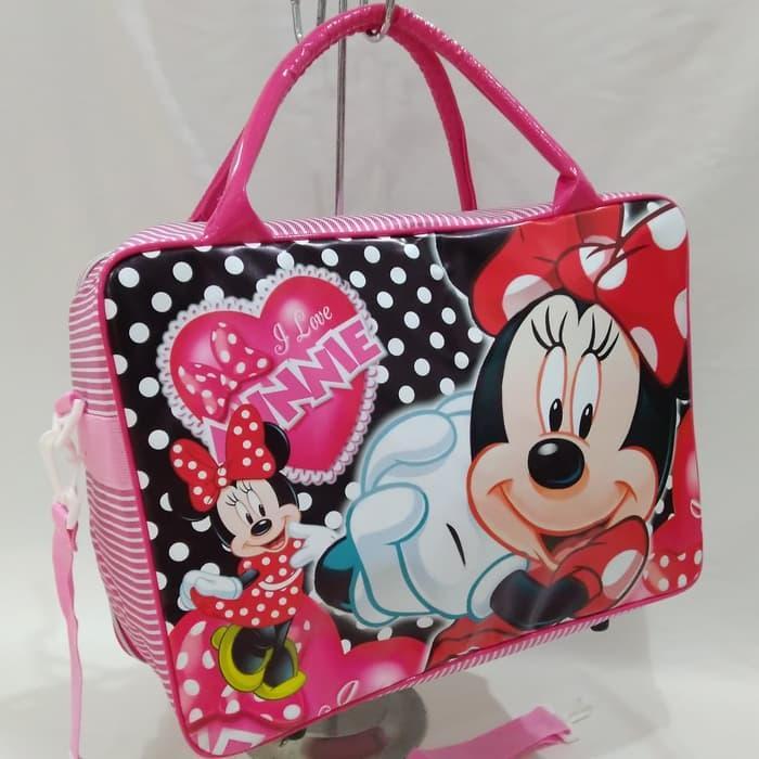 Tas Travel Bag Koper Anak Karakter Minnie Mouse Ukuran Besar Murah By Belangbelang Shop.
