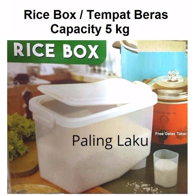 Rice Box/ tempat Beras/Kotak Beras 5 Kg