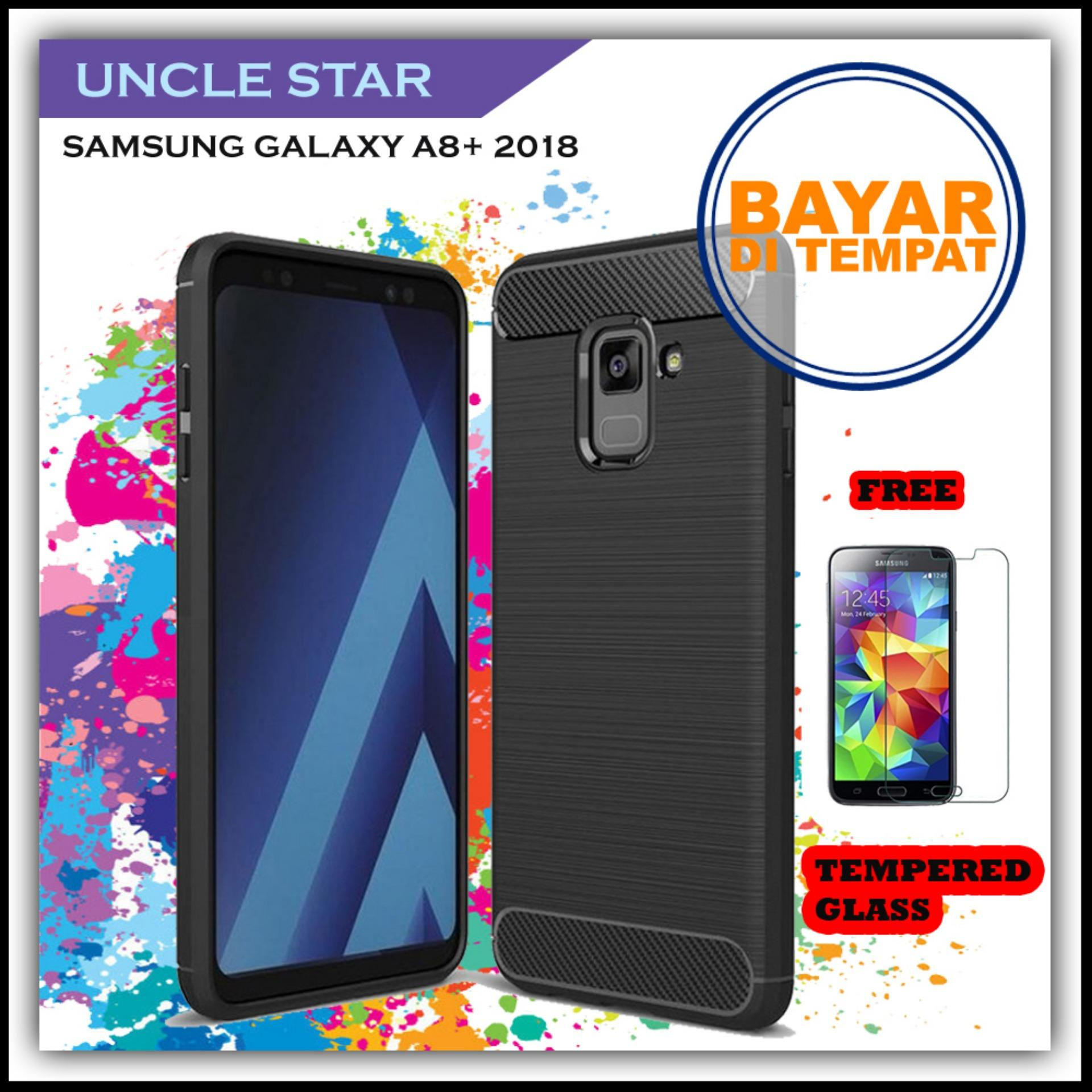 ... Uncle Star Case Ipaky Carbon Fiber Shockproof Hybrid Elegant Case for Samsung Galaxy A8 2018