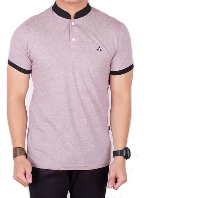 Menzu - Polo Shirt Pria Lengan Pendek Kerah Shanghai Hitam / Baju Cowok / Kaos Distro