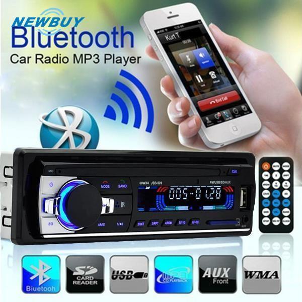 Lumin JSD-520 Head Unit Single Din Stereo dengan Radio FM USB/SD/AUX/Bluetooth Handsfree untuk Mobi