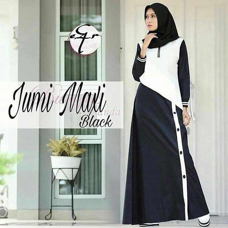 Gamis Jumi Maxi Dress Balotelly Baju Wanita Panjang Muslim Casual Wanita Pakaian Hijab Modern Baju Gaun Pesta Modis Trendy Terbaru 2018