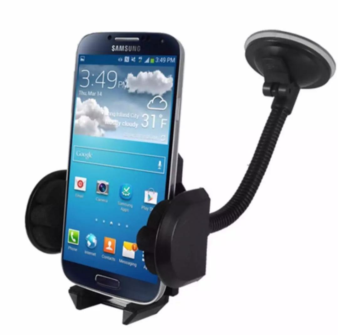 Phone Holder Mobil Leher Angsa Fleksibel Universal Untuk HP / GPS Kaca dan Dashboard Car