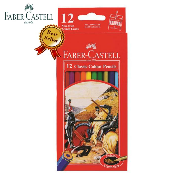Pensil Warna Faber-Castell Classic Isi 12 / Pensil Warna 12 Faber Castell Classic