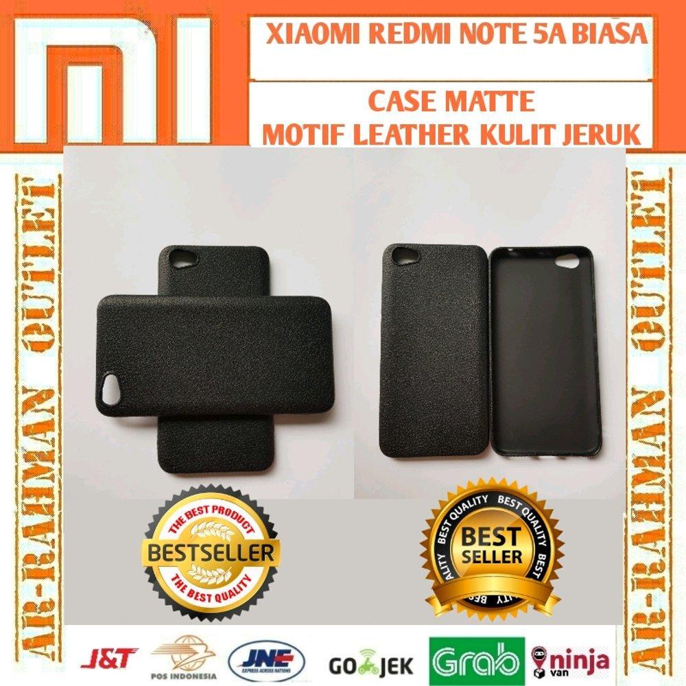 Xiaomi mi note5a redminote5a redmi note 5a biasa casing matte motif kulit jeruk leather anti crack