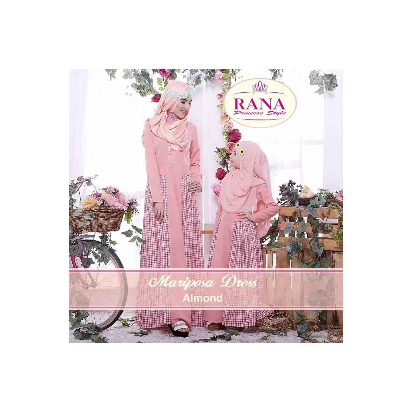 Rana Mariposa Dress/Gamis Pesta/Baju Muslim Couple