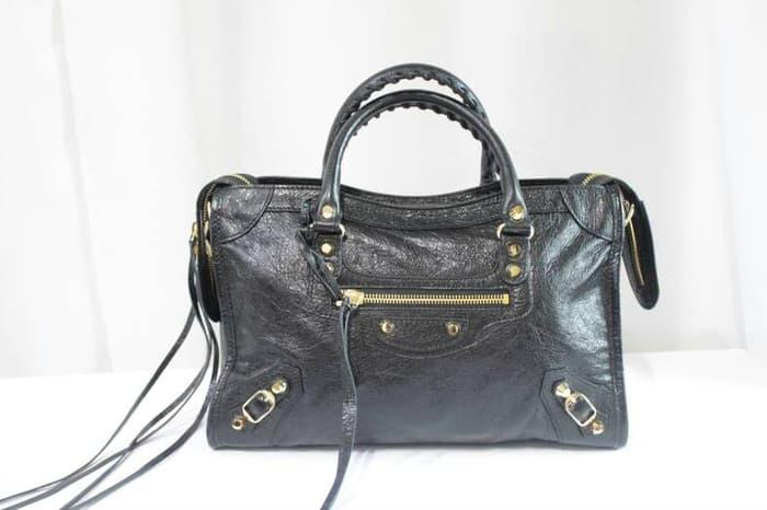 HOT SPESIAL!!! Balenciaga city small black GHW - wZ7TmB