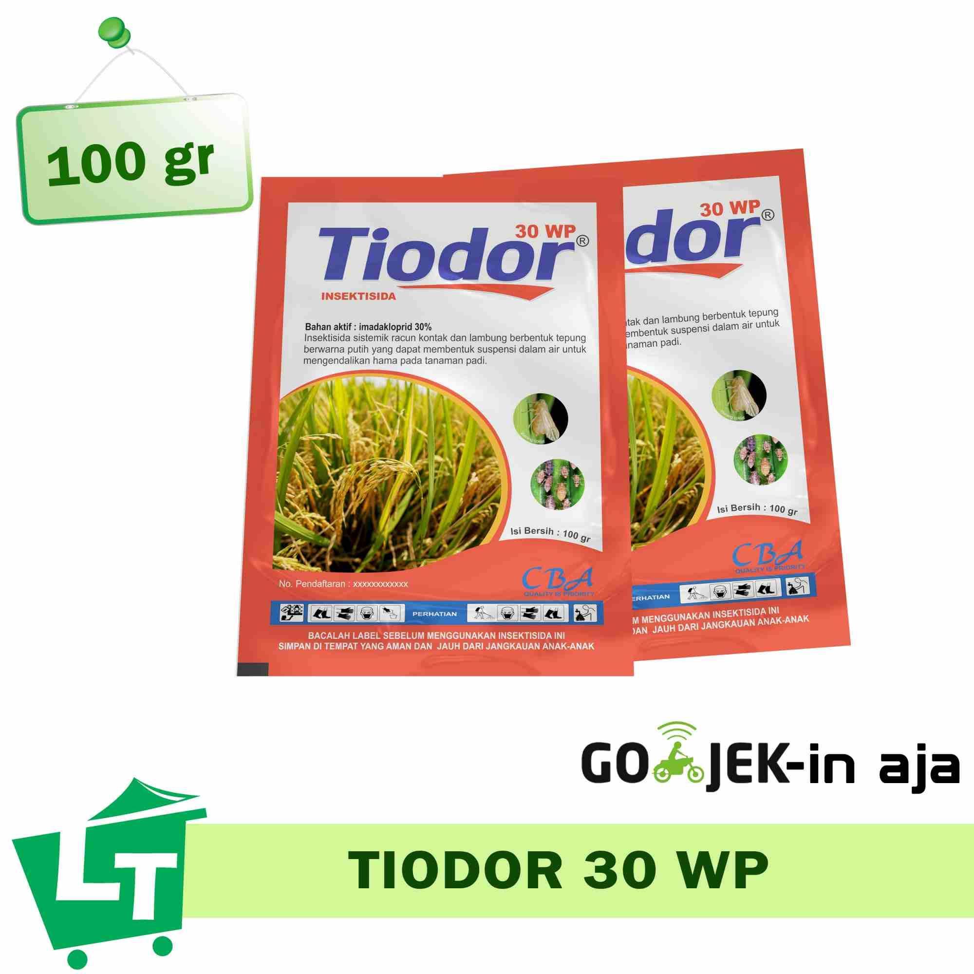 Pestisida imidakloprid  TIODOR 30 WP 100 gram obat pembasmi hama wereng tanaman padi sawah