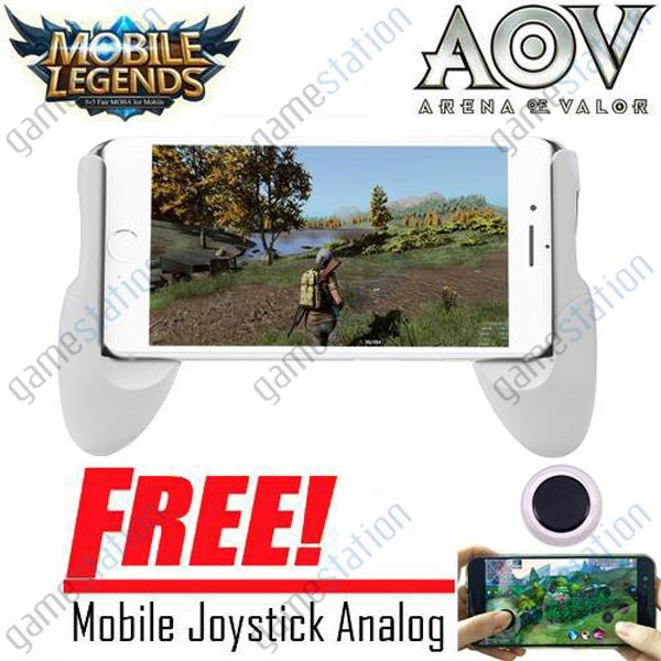 Game Station Gamepad Holder Joystik / Joypod Mobapad Smartphone For Android Dan IOS Game Stand / Bracket 4.5 - 6.5inch + Free Mobile Joystick Analog For Smartphone Gaming