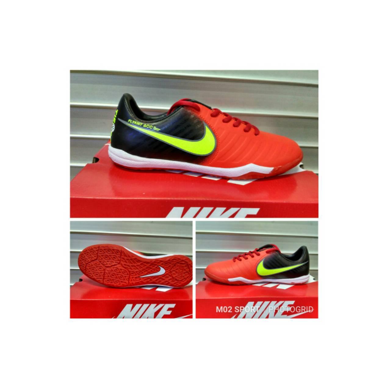 Sepatu futsal nike Tiempo hitam merah sol karet