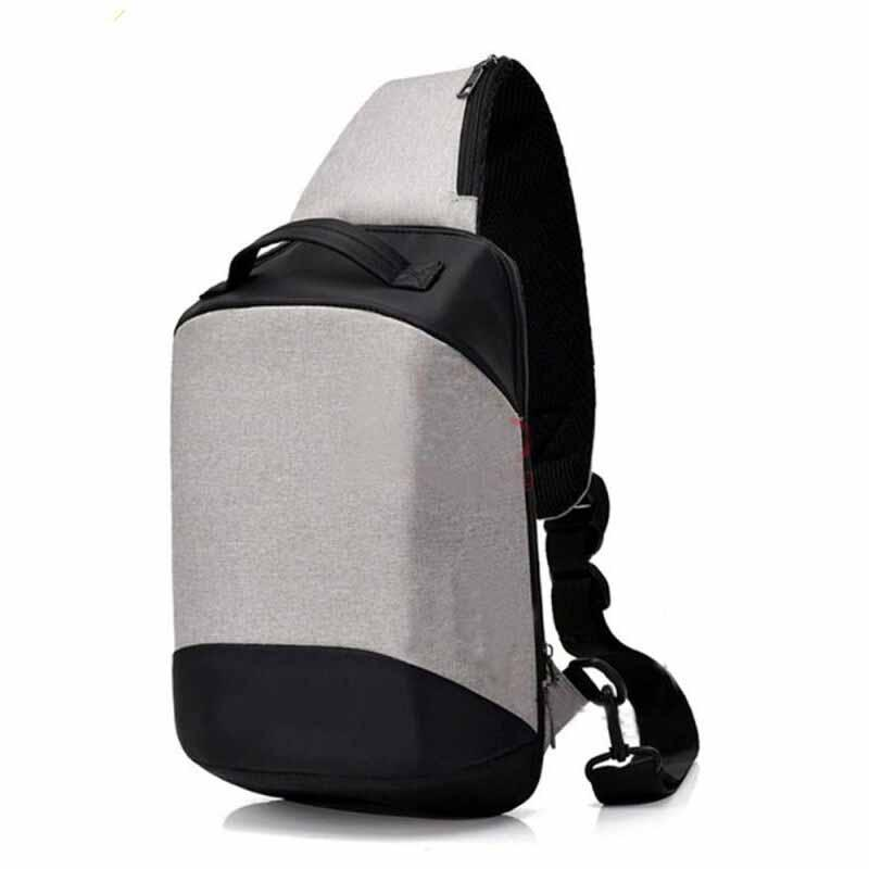 NEW..Tas Selempang Pria Anti Maling Messenger Crossbody Sling Bag Import With Non USB Charger Port Support For Iphone Ipad Mini Xiaomi Samsung Tab Anti Theft