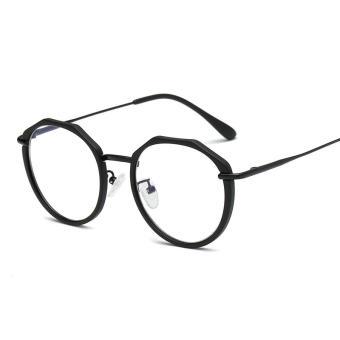 Price Checker Kacamata minus wanita Anti Radiasi cermin datar pria bingkai  bundar kacamata makeup Cermin Retro b40d220605