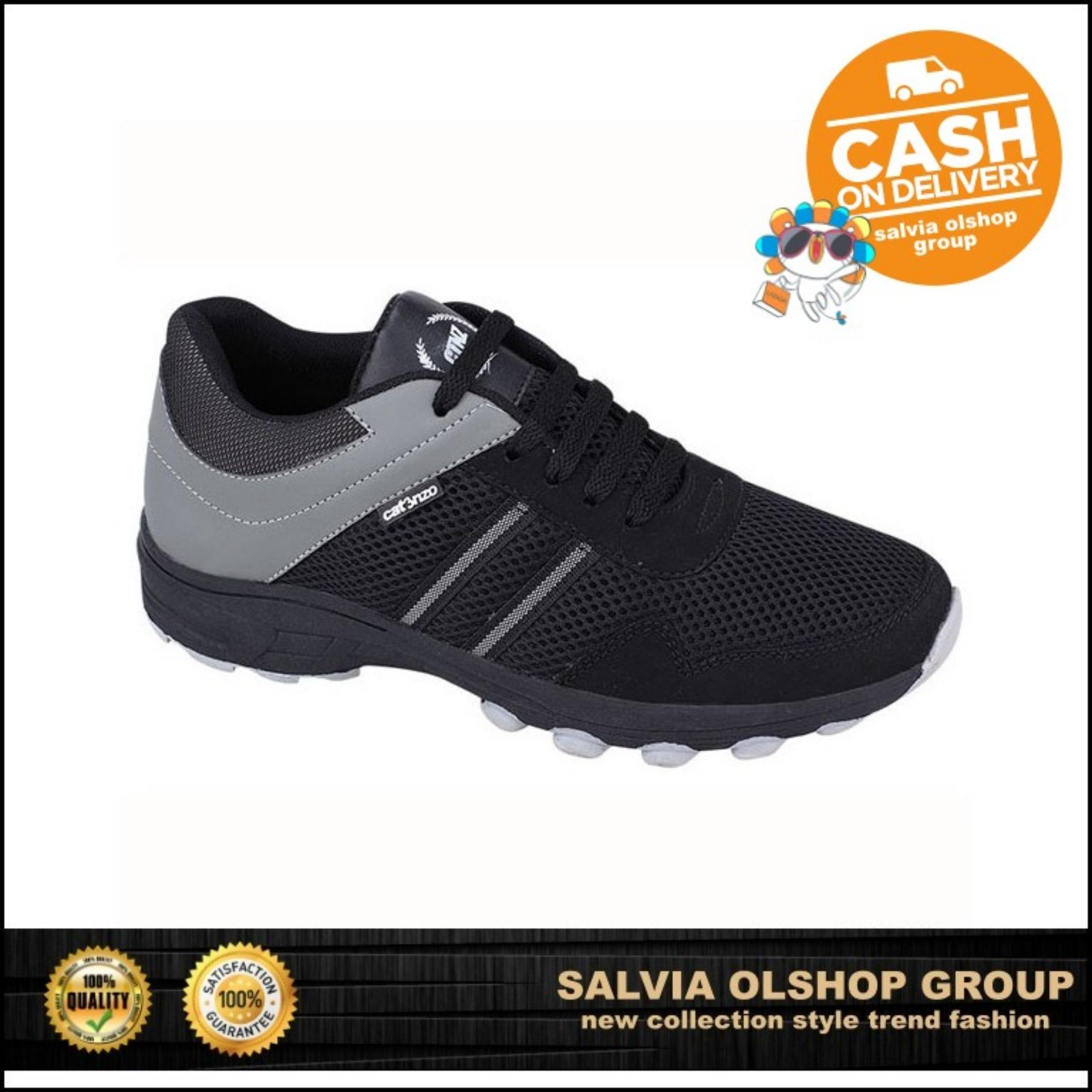 Catenzo Sepatu Sport   Lari Pria keren Dan Modis DY 046 - Hitam 28f4dc3d68