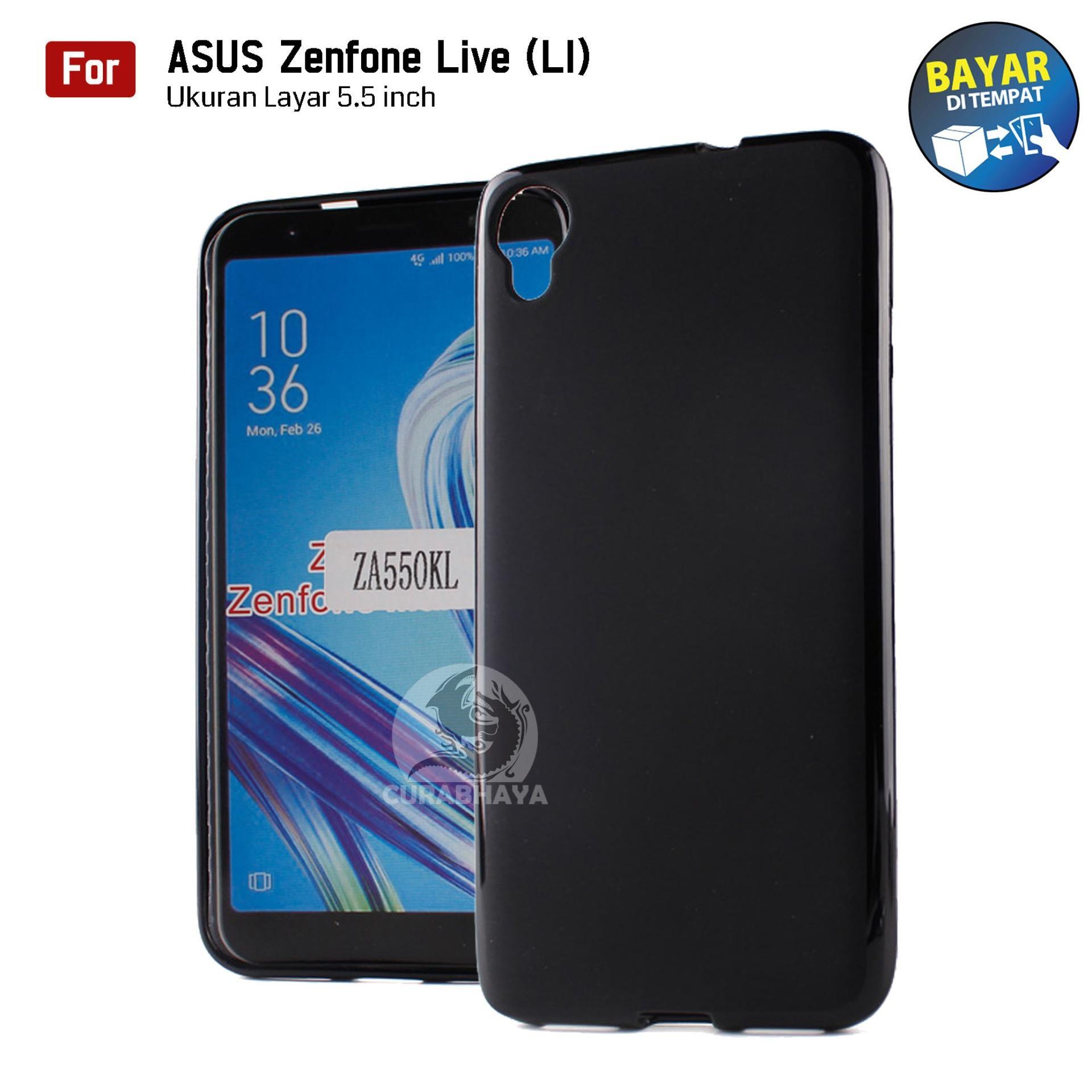 MidNight Asus Zenfone Live (L1) / ZA550L | Slim Case Black Matte Softcase Premium Baby Skin - Hitam