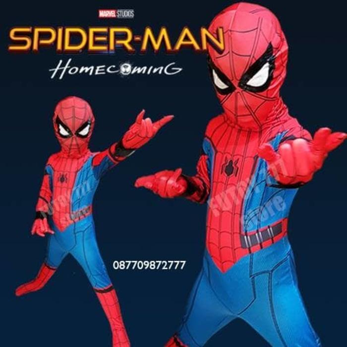 Kostum Spiderman Homecoming anak baju ulang tahun laki home coming