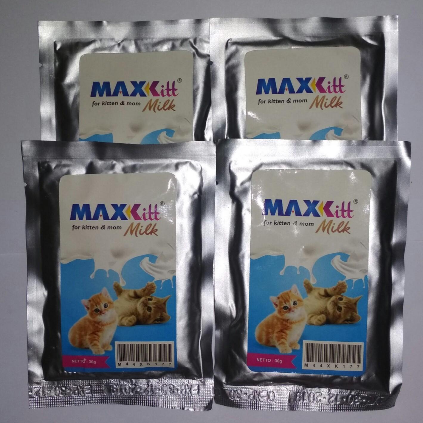 Susu anak kucing dan si induk MAX-KIT 4 saset