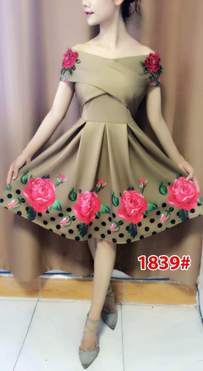 wow keren- Dress Import / dress wanita / dress korea / dress kembang 7990 / dress sabrina