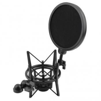 Holder Mikrofon Shockproof dengan Pop Filter