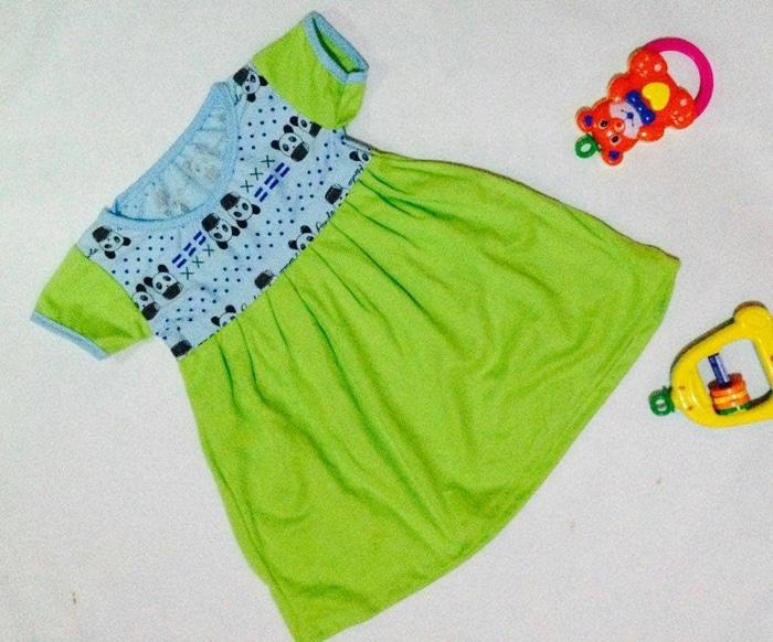 Paket 5pcs Dress Baju Pakaian bayi anak uk size 1 sampai 2 tahun warna random