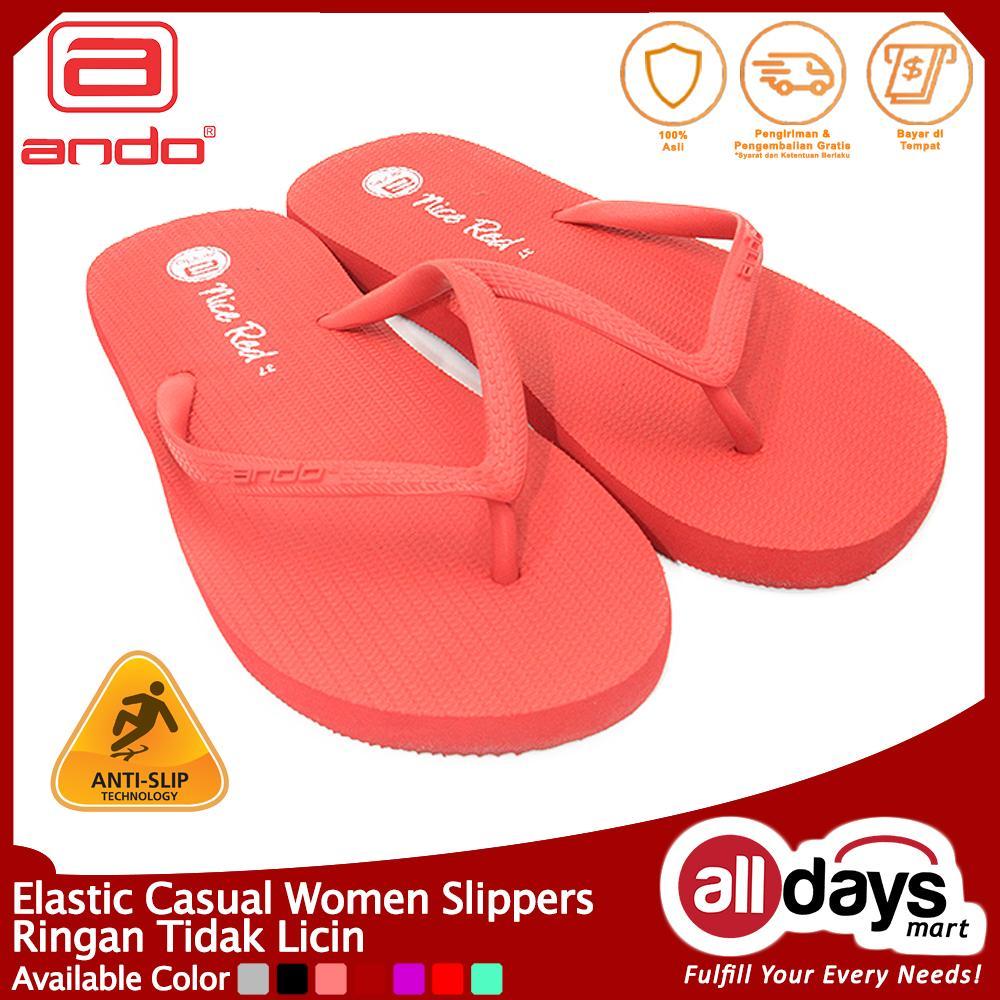 Ando Sandal Jepit Nice Ladies - Red