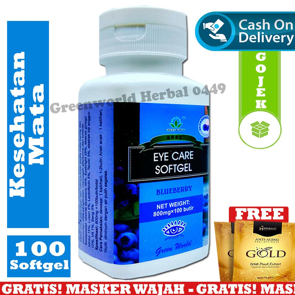 Green World - Eye Care Softgel - Original - Obat Mata - Obat Herbal