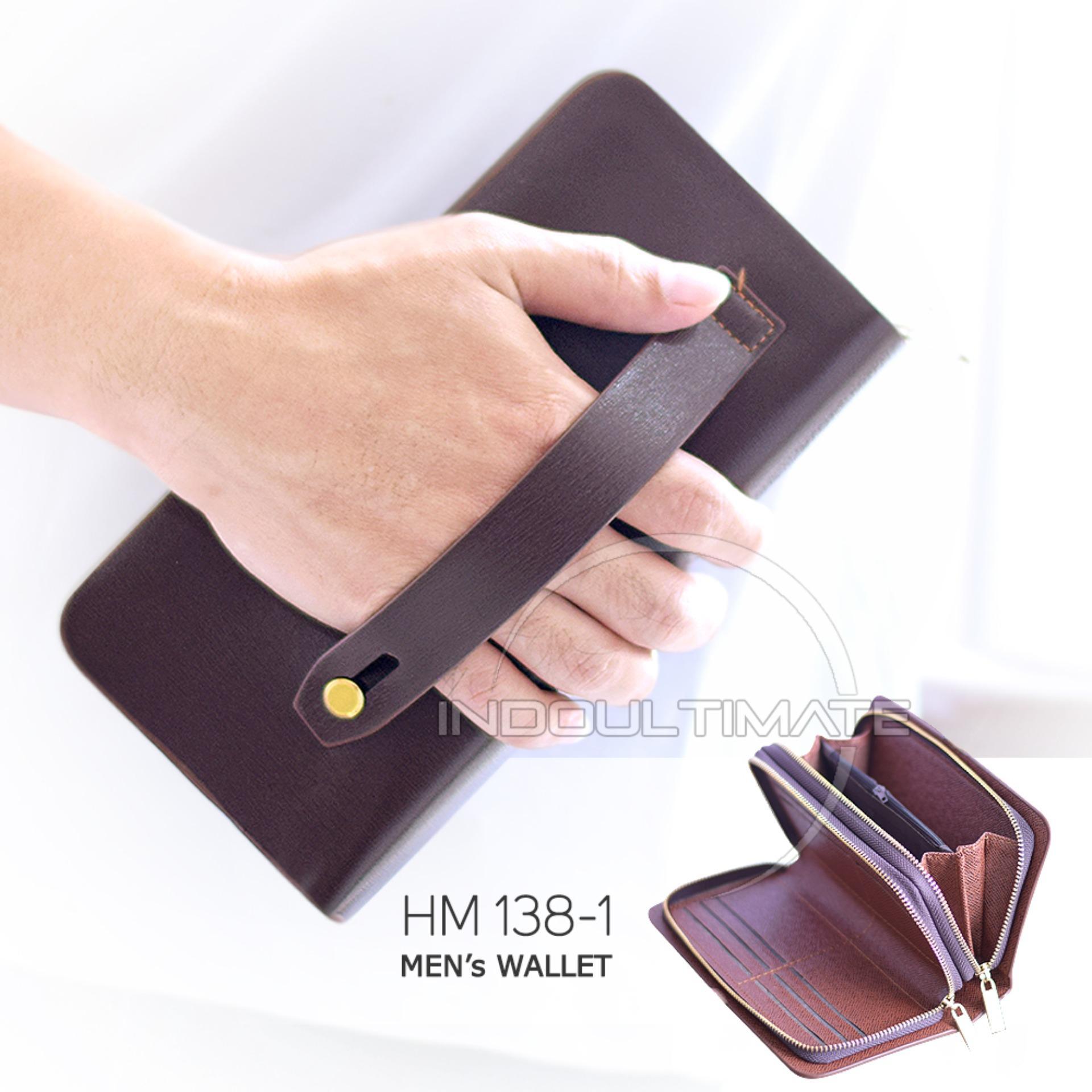 Ultimate Dompet Pria HM-138-1 - Brown / Dompet Cowok Kartu ATM Panjang Lipat Kulit Import Murah