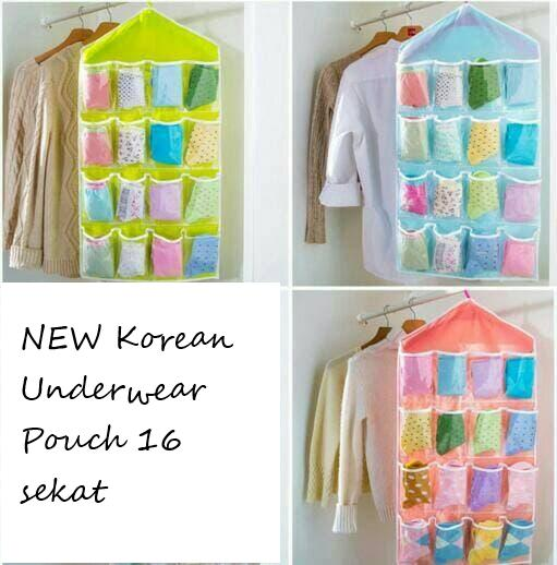 Grosir Station - NEW Korean Underwear Pouch 16 sekat untuk tempat celana dan lain-lain