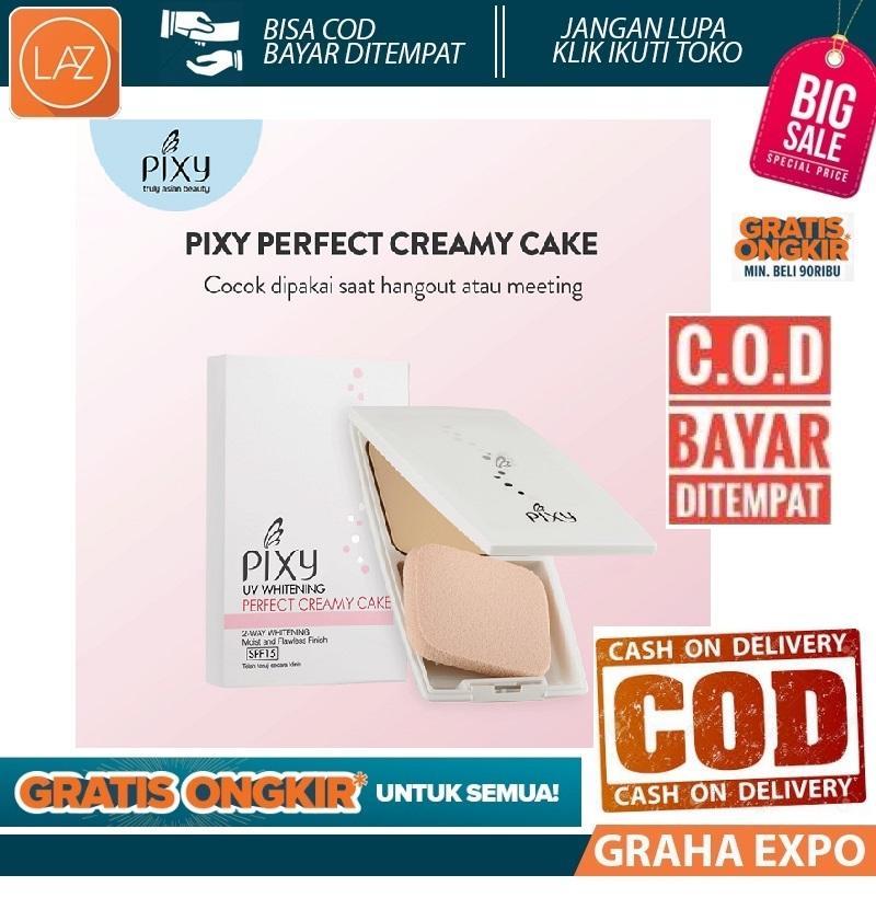 Pixy Perfect Creamy Cake Two Way Cake TWC Bedak Padat Kosmetik Make Up SPF 15++ Beauty Laz COD Graha Expo