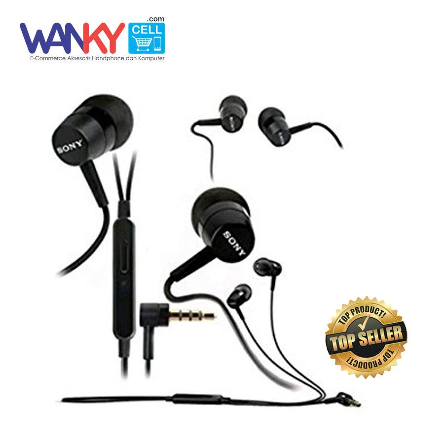 Wanky Stereo Headset Sony MH750 Super BASS For Smartphone Xiaomi/Oppo/Samsung/Vivo/iPhone - Hitam