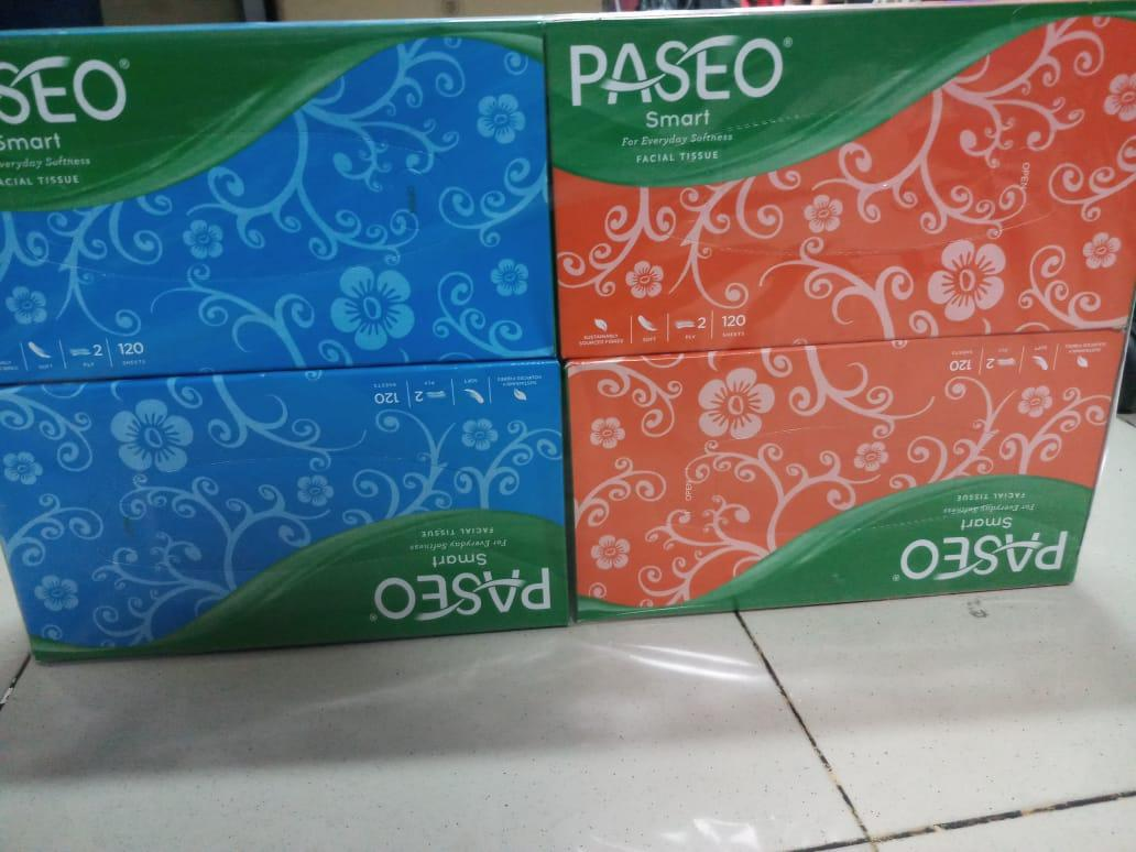 PAKET HEMAT !!! 4 Pcs PASEO BOX Original Tisu Tissue Smart 120 sheets 2 ply ( ISI 4 PCS )