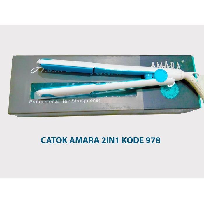 Alat Catok Catokan 2in1 Pelurus Gelombang Kriting Sosis Rambut Amara 2 in 1 KODE 978 Best Seller