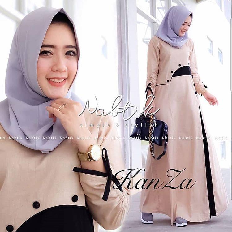 TOF Gamis Wanita Gamis Syari Dress Wanita Muslim Murah KANZA DRESS