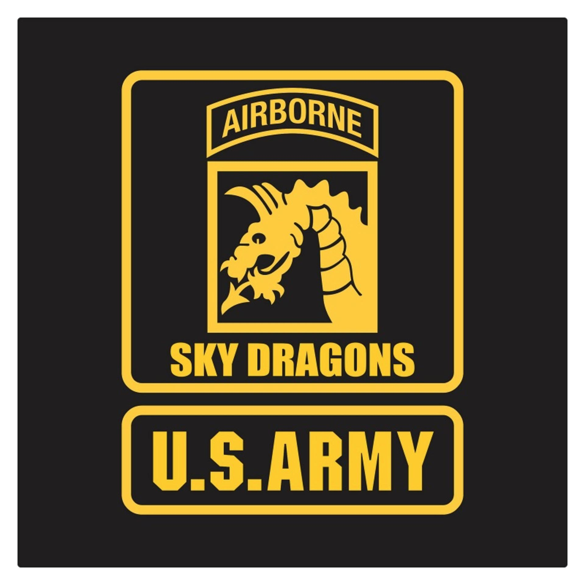 Fighterstown US Army Airborne XVIII Sky Dragons Badge Cutting Sticker