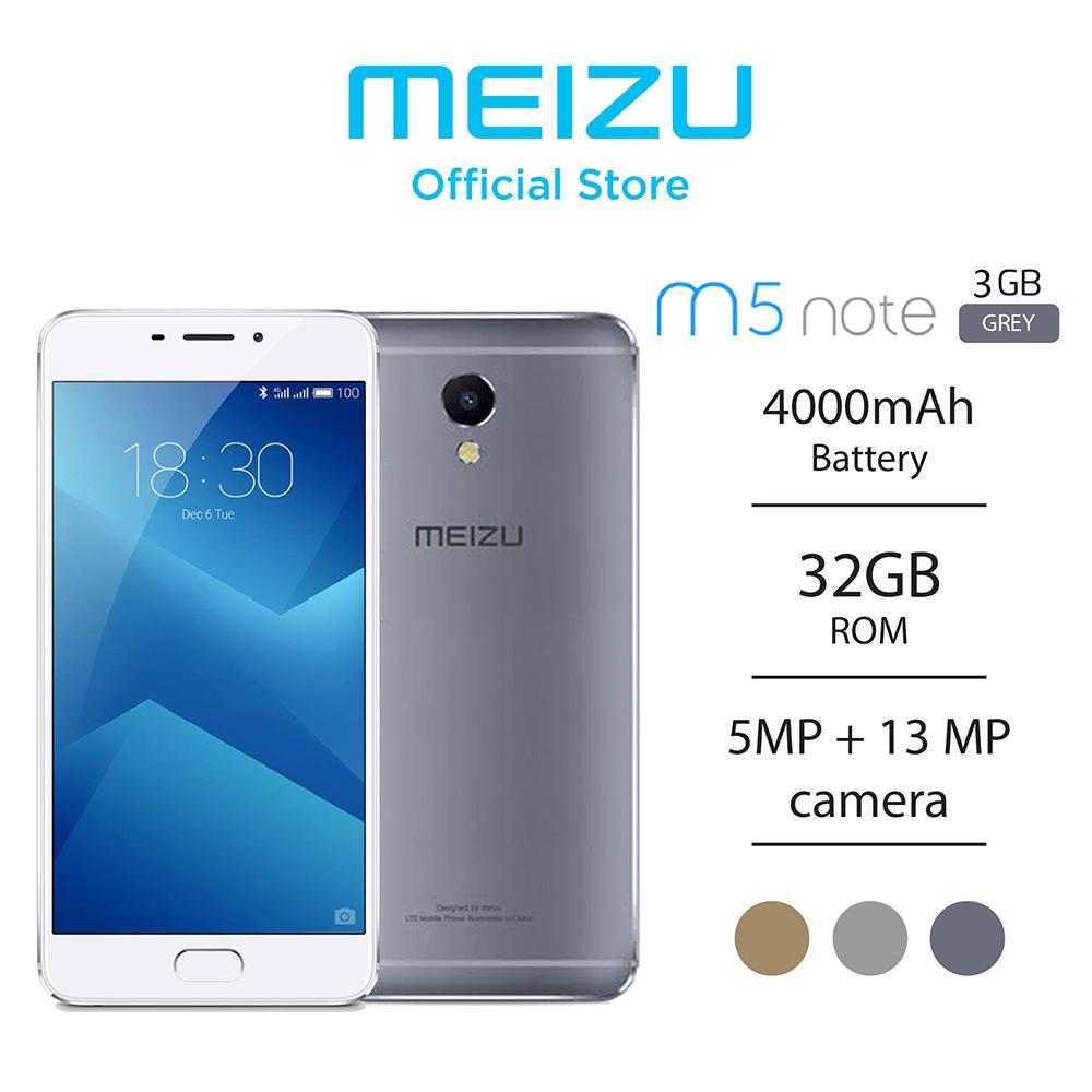 Meizu M5 Note - Grey - 32GB/3GB (Garansi Resmi Meizu Indonesia 1 Tahun)