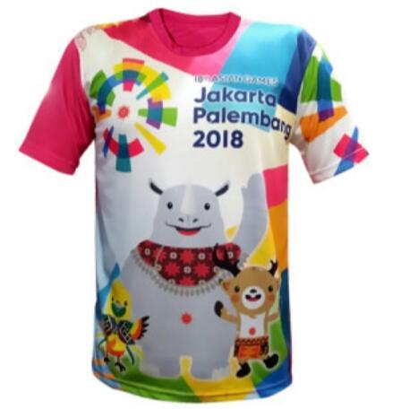 L Ninoe - kaos asian games 2018 / kaos asian games Jakarta Palembang 2018