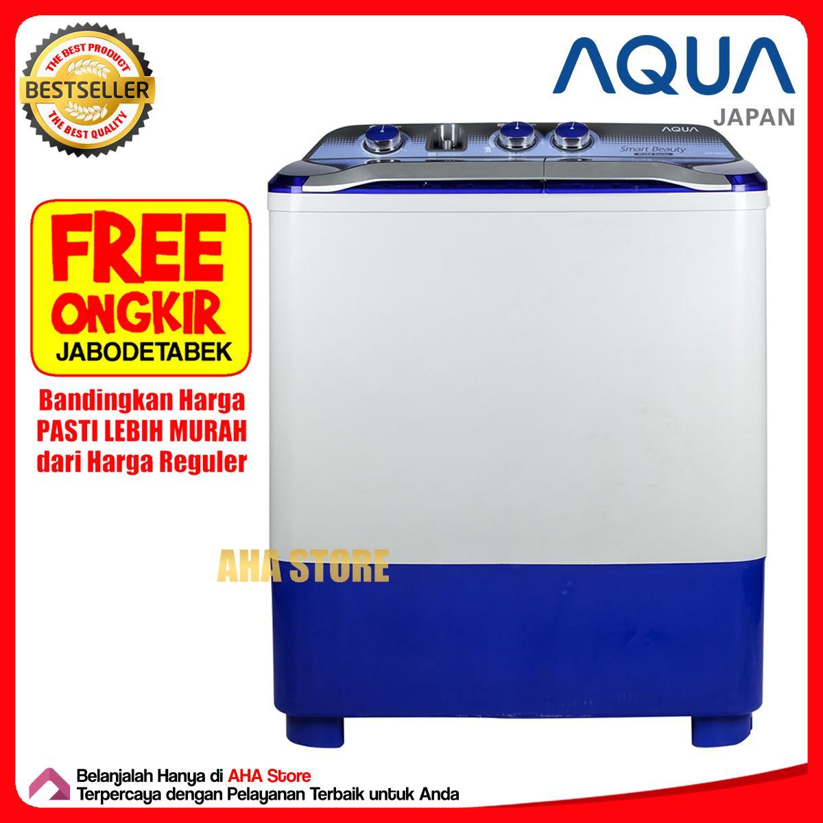 Aqua Mesin Cuci 2 Tabung 8 Kg QW-880XT (FREE ONGKIR JABODETABEK)
