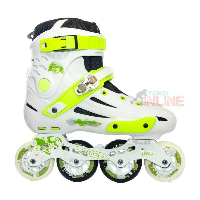 Sepatu Roda Labeda V5 Slalom Inline Skate - White/Green
