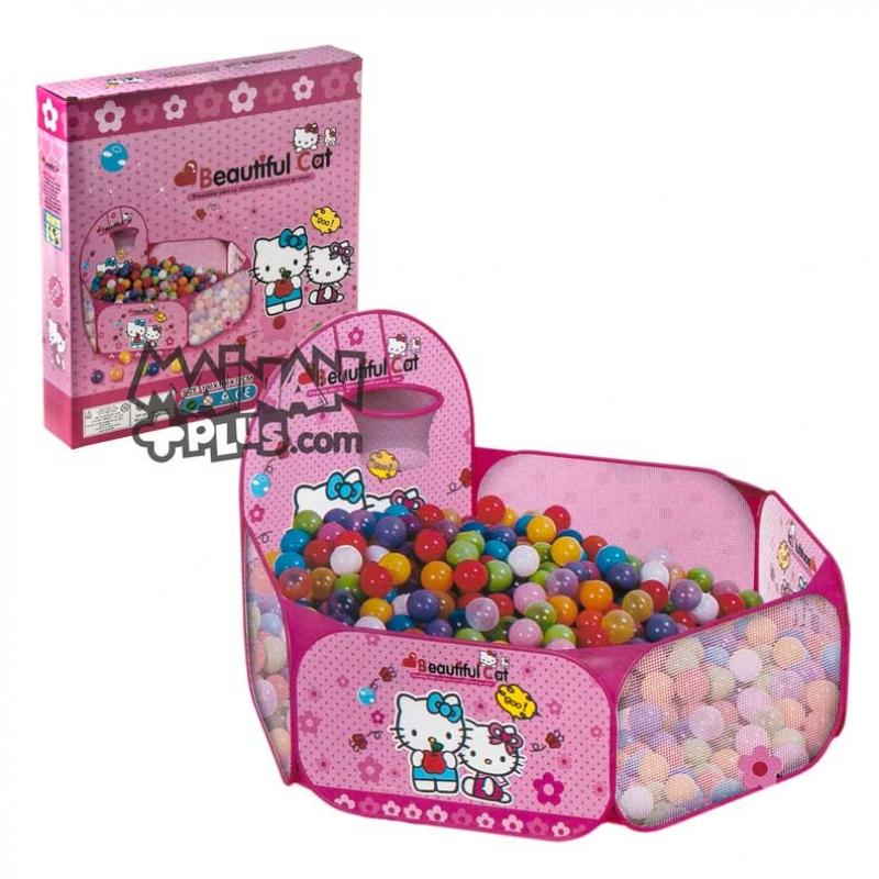 Tenda Mandi Bola Keranjang Basket Hello Kitty Mainan Anak di Rumah