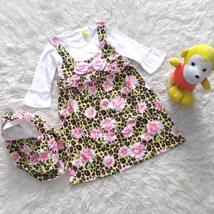 CB Baju Muslim Gamis Anak Bayi Perempuan Tutul Bunga Pita - baju gamis anak perempuan terbaru / baju gamis anak perempuan termurah / baju gamis anak perempuan berkualitas / baju anak / baju gamis / baju keren / baju muslim anak perempuan / baju lebaran