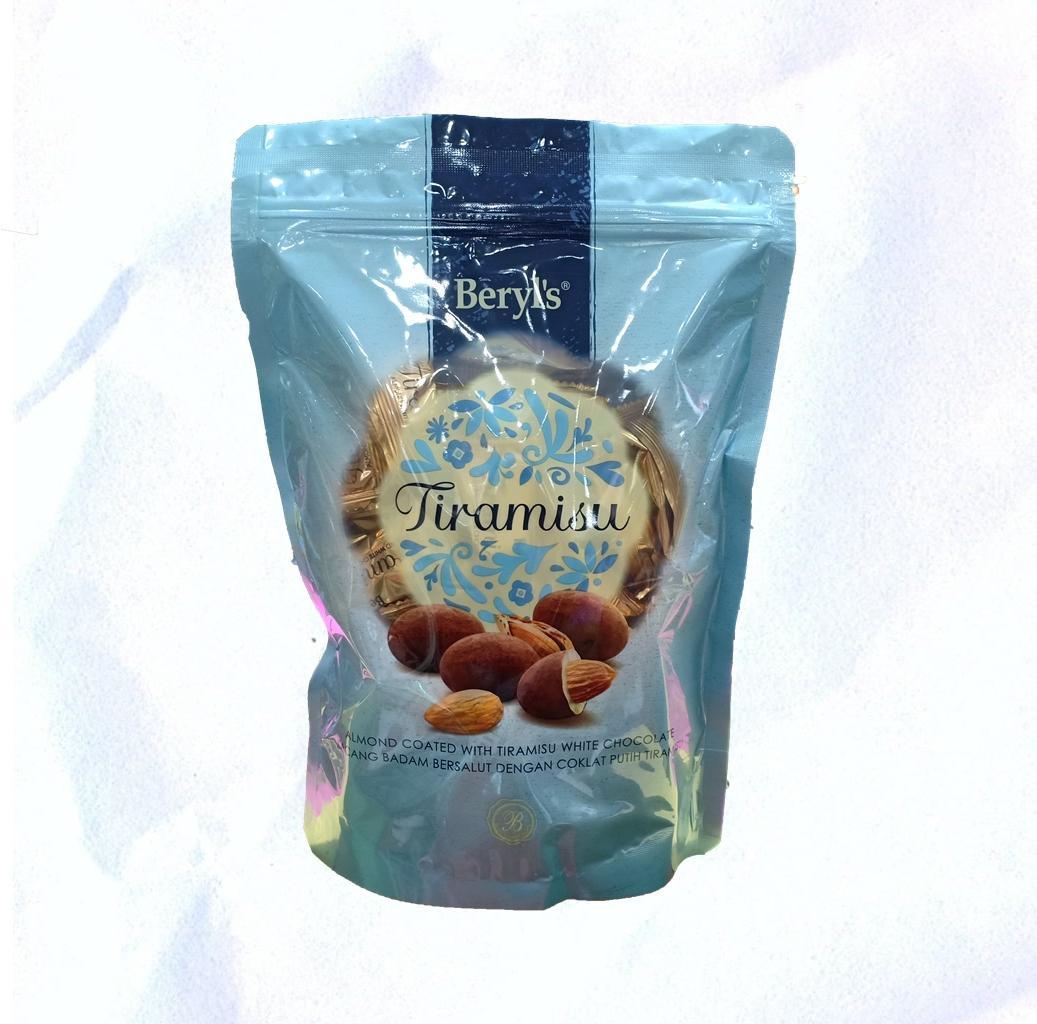 BERYL'S TIRAMISU ALMOND WHITE CHOCO 300gr