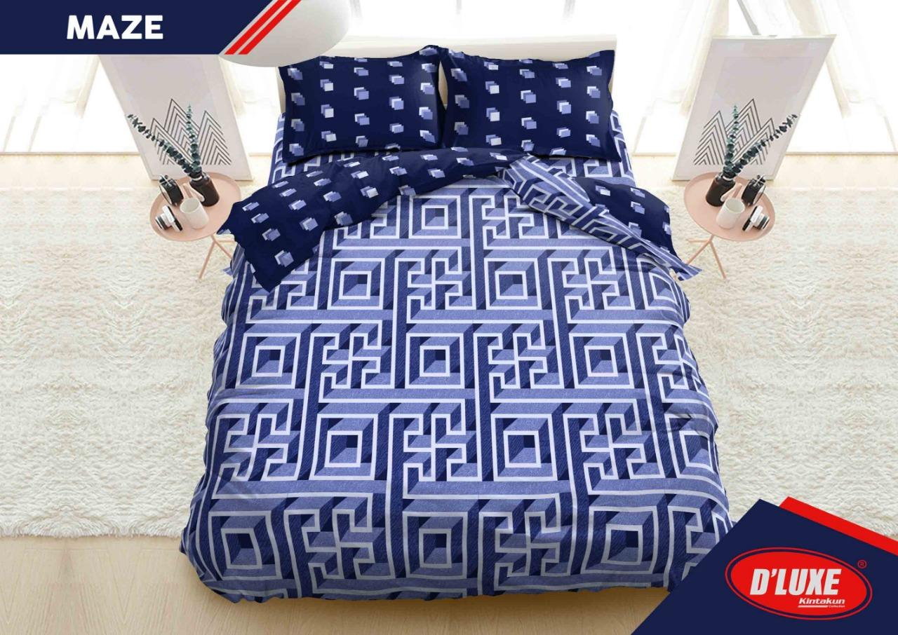 Kintakun D'Luxe Bed Cover Set New Edition Uk. 180x200 Motif - Maze