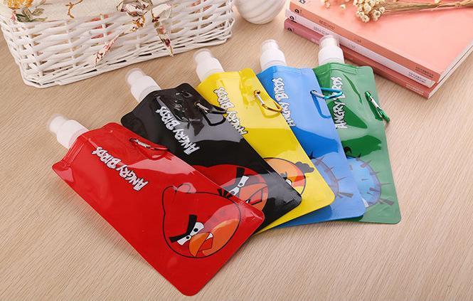 Bayi Kita BK100093 - Botol Air Minum Lipat Portable Vapour / Vapur Murah Motif Angry Bird