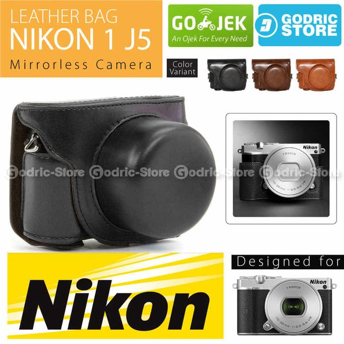 Nikon 1 J5 Leather Bag / Case / Tas Kulit Kamera Mirrorless