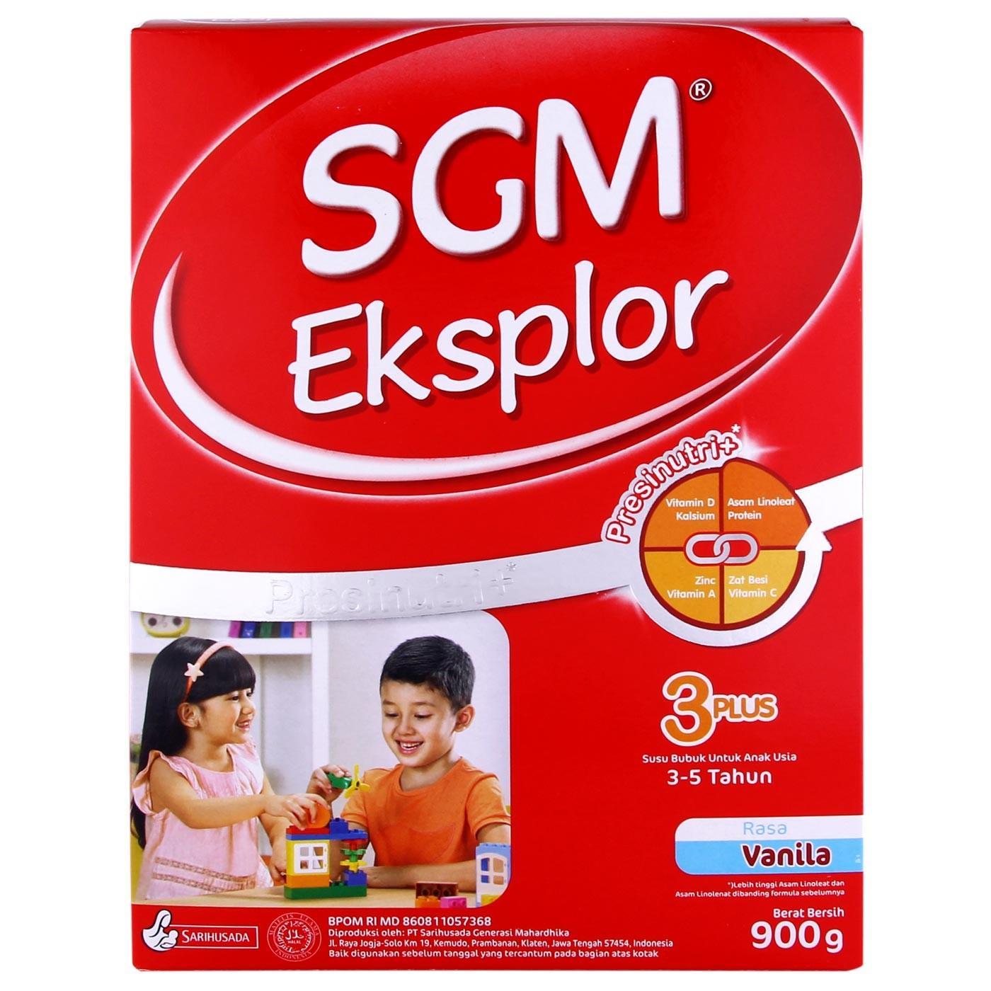 Sgm Eksplor 3+ Susu Pertumbuhan - Vanila - 900gr By Tokopopoksehati.