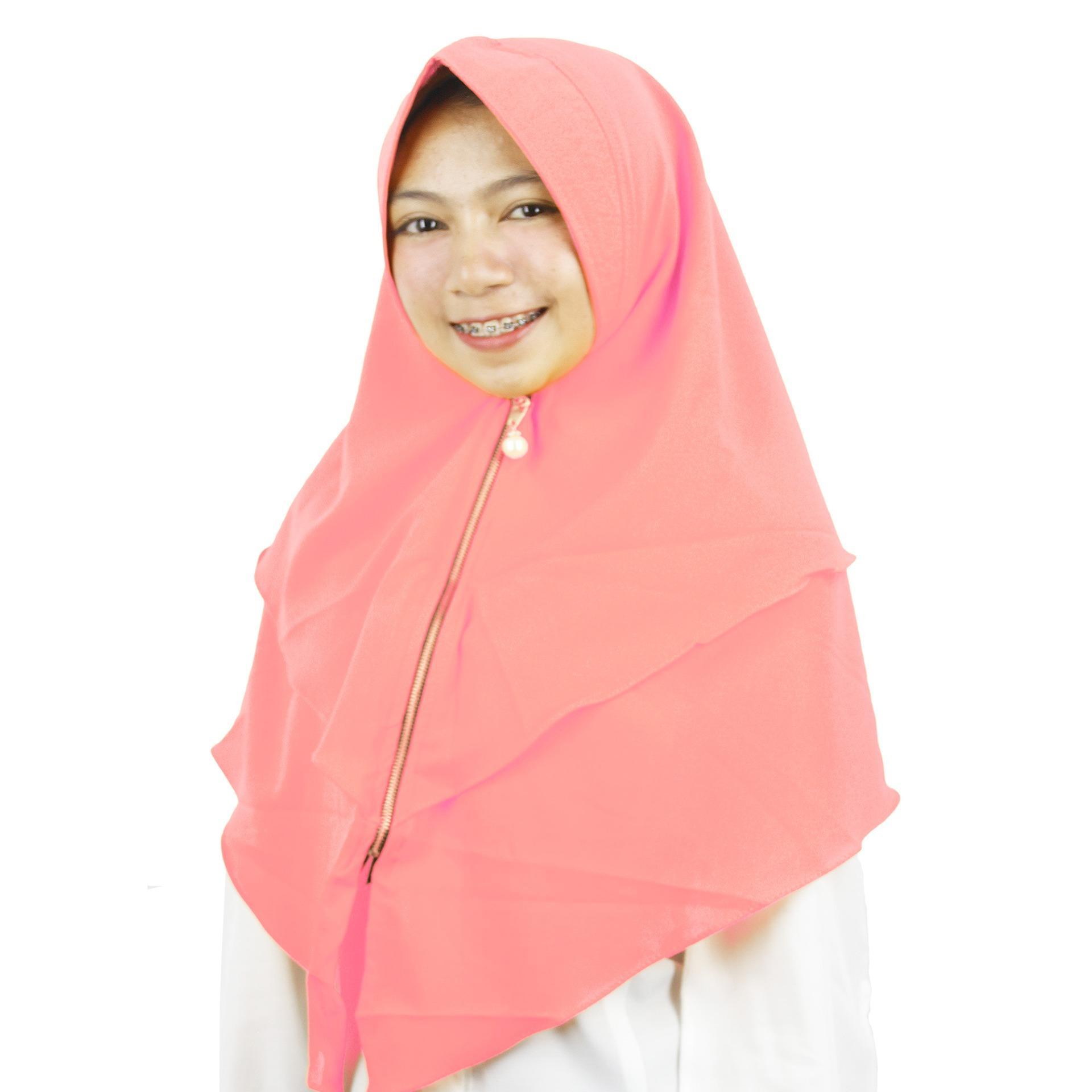 PROMO Merina Hijab Instan Bergo Zipper - [Salem]