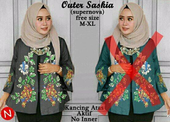 cn 55593 saskia top atasan blouse tunik kemeja batik songket etnik wanita murah simple elegan trendy