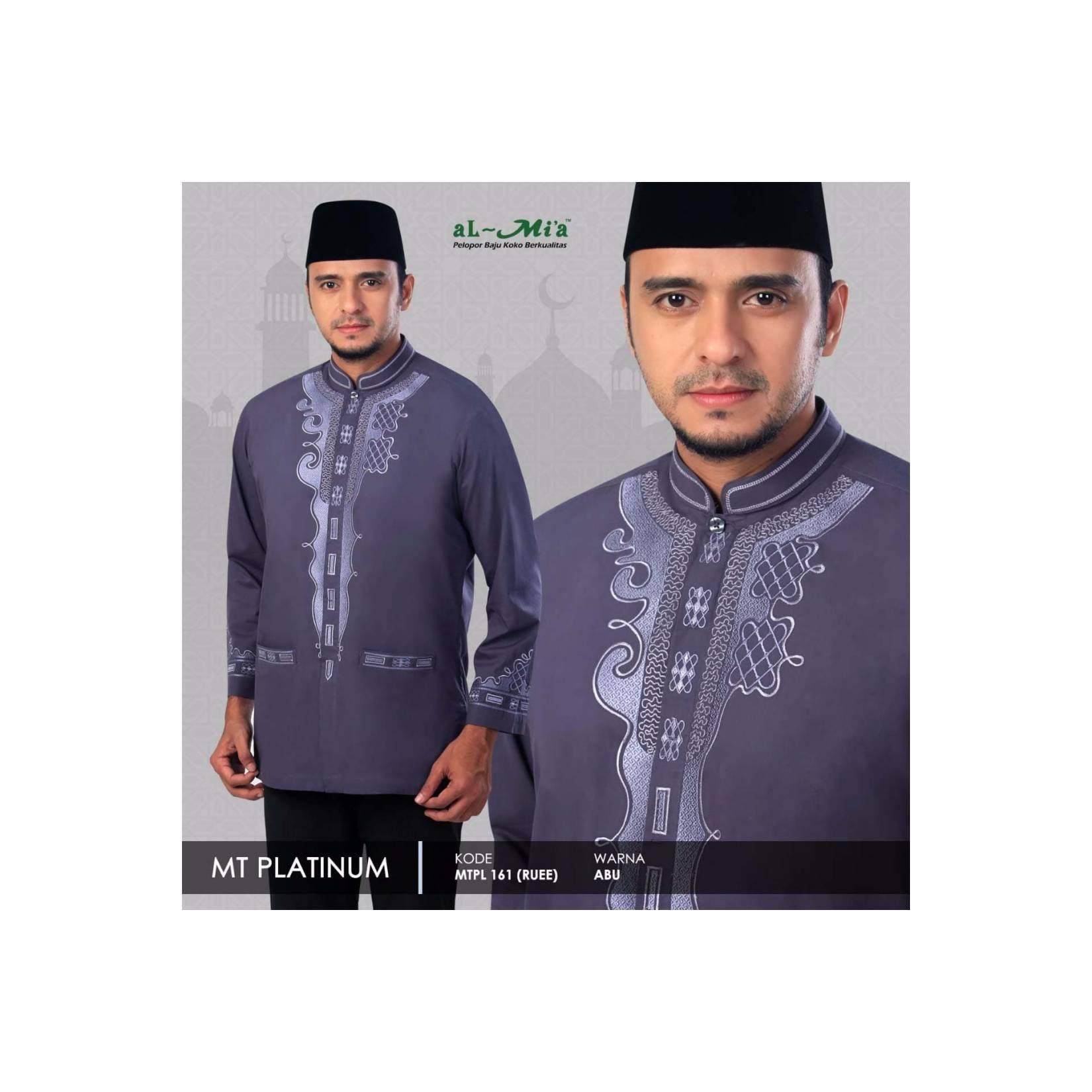 Baju Koko Pria Muslim motif Black Panther Brand ALMIA